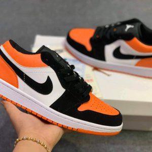 Giày Nike air jordan 1 low cam đen rep 11 shattered backboard