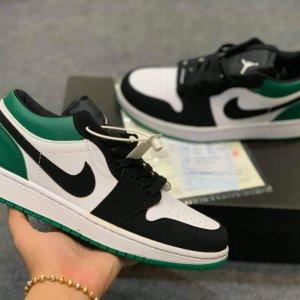 Giày nike air jordan 1 low mystic green đen xanh lá rep 11