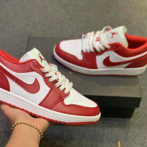 nike air jordan 1 low gym red white